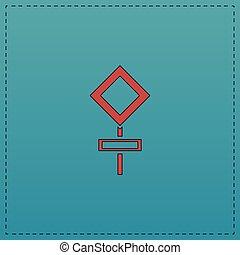 símbolo, computador, sinal estrada