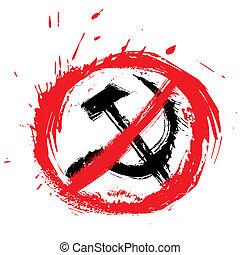 símbolo, comunismo, não