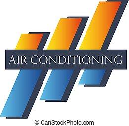 símbolo, condicionamento, abstratos, ar