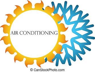 símbolo, condicionamento, ar