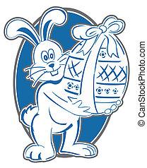símbolo, conejo pascua
