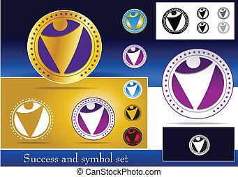 símbolo, conjunto, éxito