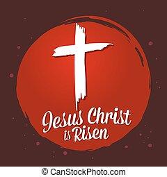 símbolo, cristianismo, christ, levantado, jesus