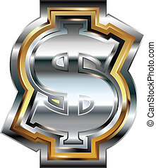 símbolo, dólar, fantasia