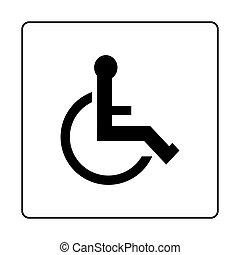 símbolo, de, access.