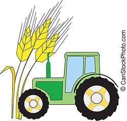 símbolo, de, agricultura