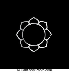 símbolo, de, buddhism-, flor de loto