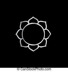 símbolo, de, buddhism-, flor lotus