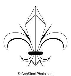 símbolo, de, fleur, lys