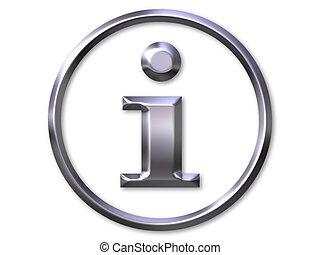 símbolo de información