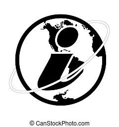 símbolo de información, vector