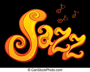símbolo, de, jazz