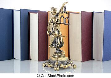 símbolo, de, lei, e, justice.