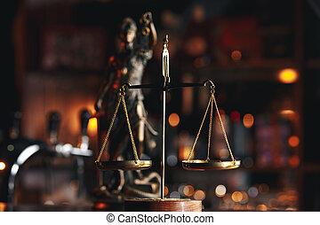 símbolo, de, ley, y, justicia, ley, y, justicia, concepto