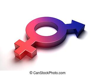 símbolo, de, masculinidad, y, feminidad