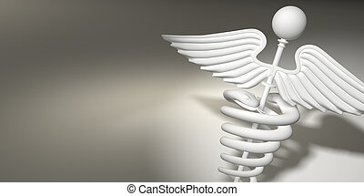 símbolo, de, medicina