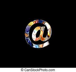 símbolo de @, multicolor