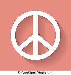 símbolo de paz, hippie, signo.