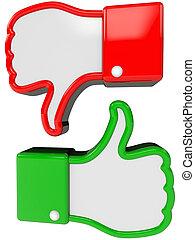 símbolo, de, positivo, e, negativo, realimentação
