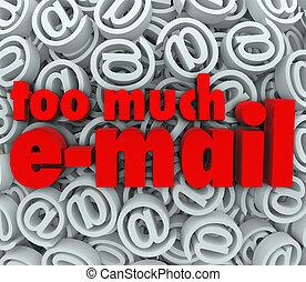 símbolo de @, señal, mucho, plano de fondo, correo, email