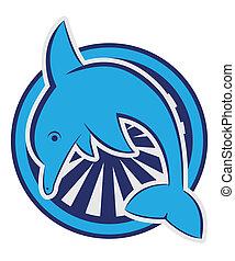 símbolo, delfín