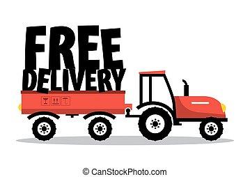 símbolo, delivery.vector, isolado, livre, experiência.,...