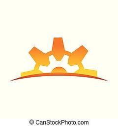 símbolo, desenho, engenharia, alvorada