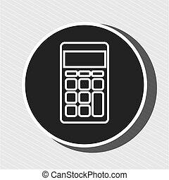 símbolo, desenho, isolado, calculadora, ícone