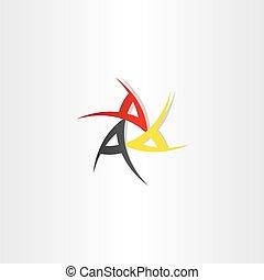 símbolo, diseño, triple
