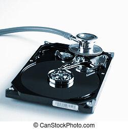 símbolo, duro, equipment., unidad, computadora, salud,...