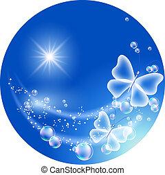 símbolo, ecología, aire limpio