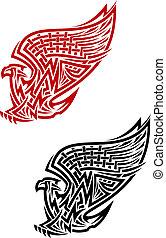 símbolo, estilo céltico, grifo