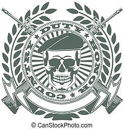 símbolo, exército