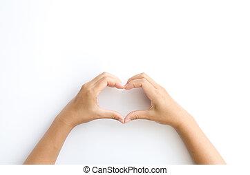 símbolo feminino, coração