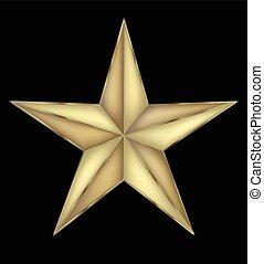 símbolo, feriado, estrella, oro
