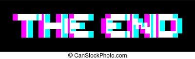 símbolo, fin, efecto visual