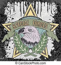 símbolo, forças especiais