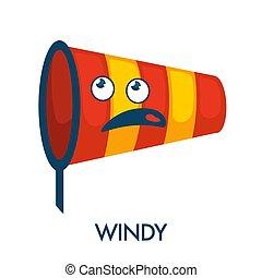 símbolo, forma, cara, ortiga, ventoso, confuso, día