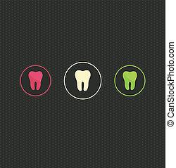 símbolo, fundo, dente