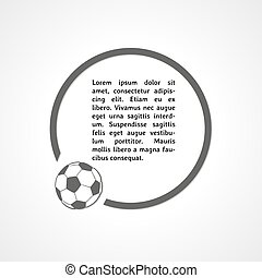 símbolo, futebol, círculo