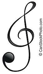 símbolo, g-clef