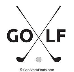 símbolo, golf