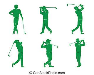 símbolo, golfe