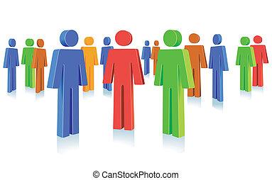 símbolo, grupo, pessoas