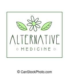 símbolo, ilustração, vetorial, medicina, logotipo, alternativa