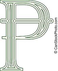 símbolo, ilustración, vector, pesetas, rayado, españa, icono