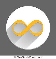símbolo, infinidade, ícone