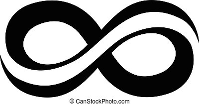 símbolo, infinidade, volta