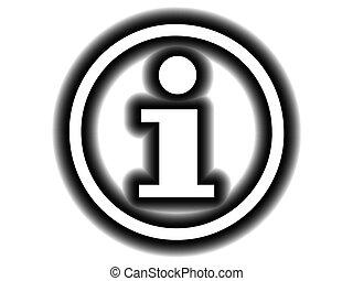 símbolo informação