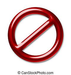 símbolo, interdiction